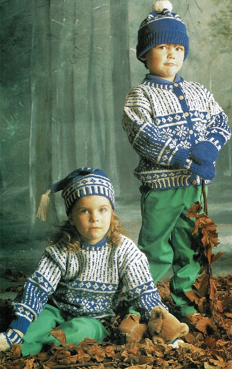 Knitted Dress And Sweater Patterns For Children