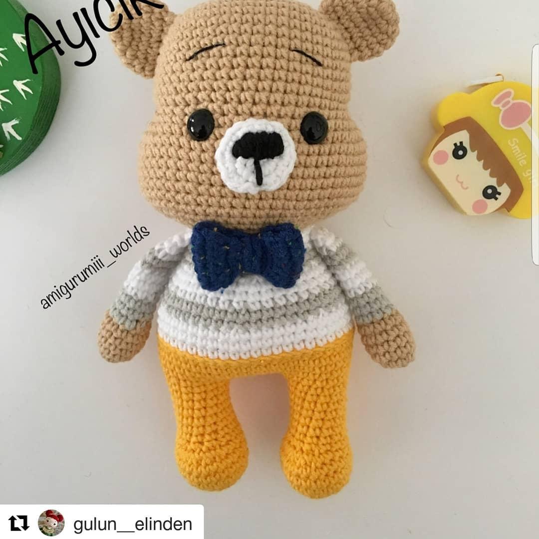 Amigurumi Teddy Bear Free Crochet Pattern