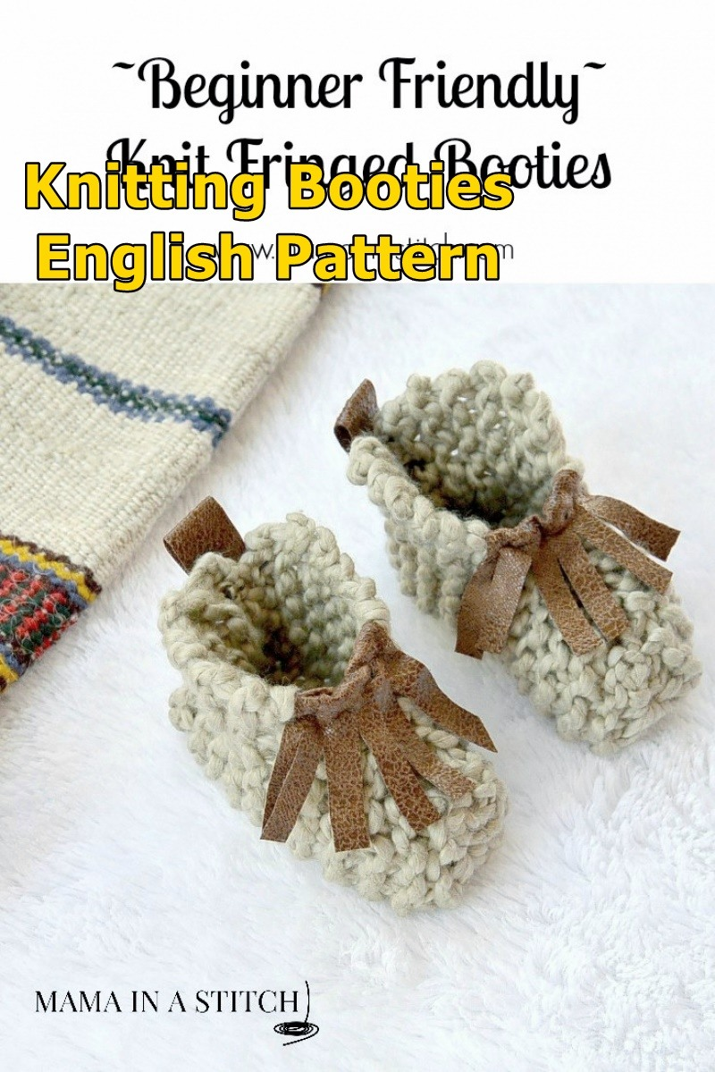 Beginner Knit Baby Booties 'Moccasins'