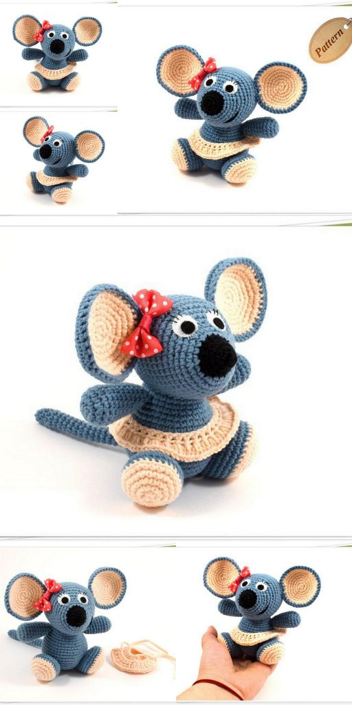 Amigurumi Catnip Mouse Free Pattern and Video | 1024x512