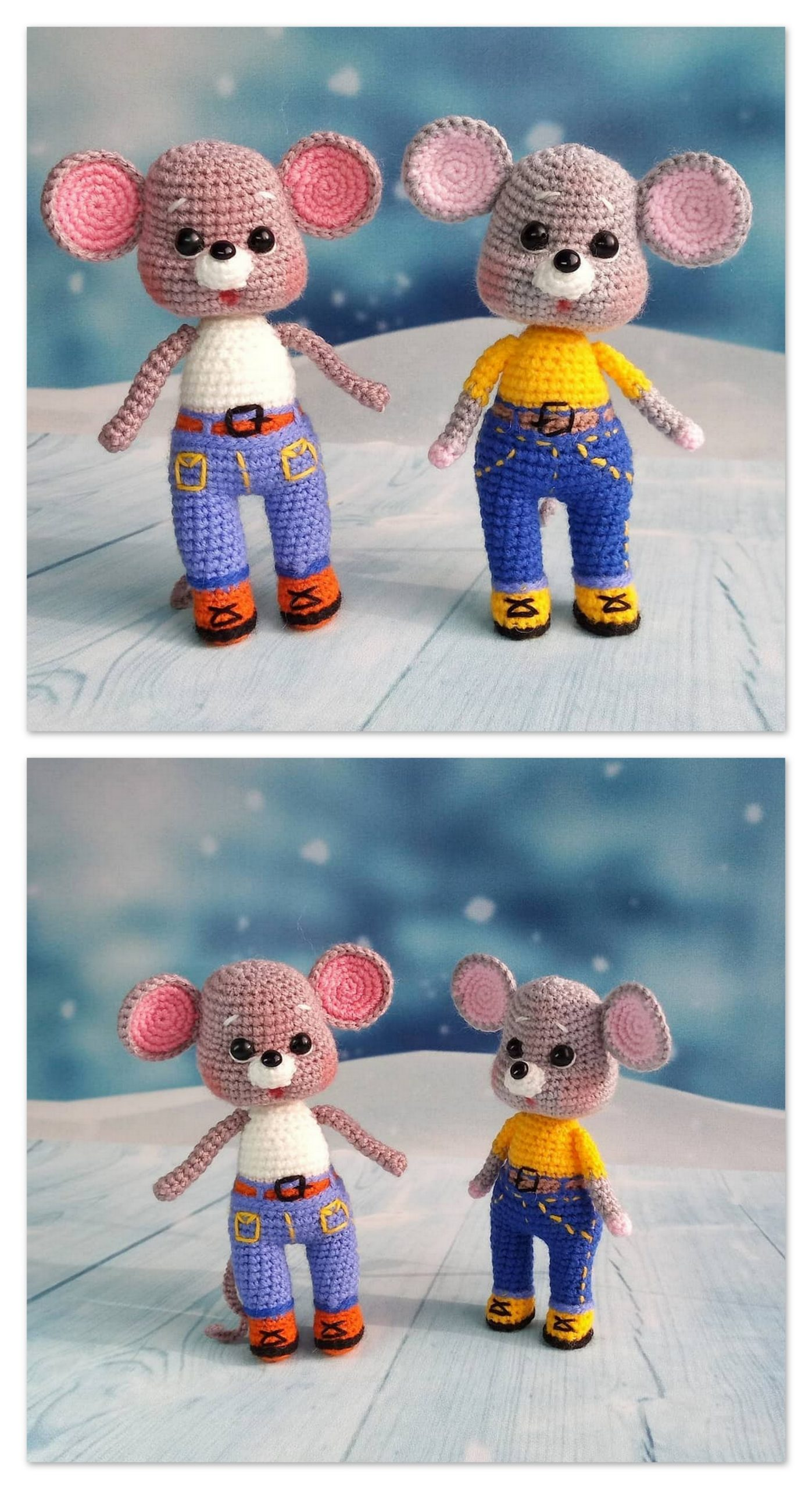 Amigurumi Cute Mouse And Animal Free Crochet Patterns