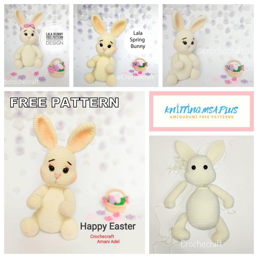 Amigurumi Lala Spring Bunny Free Crochet Pattern