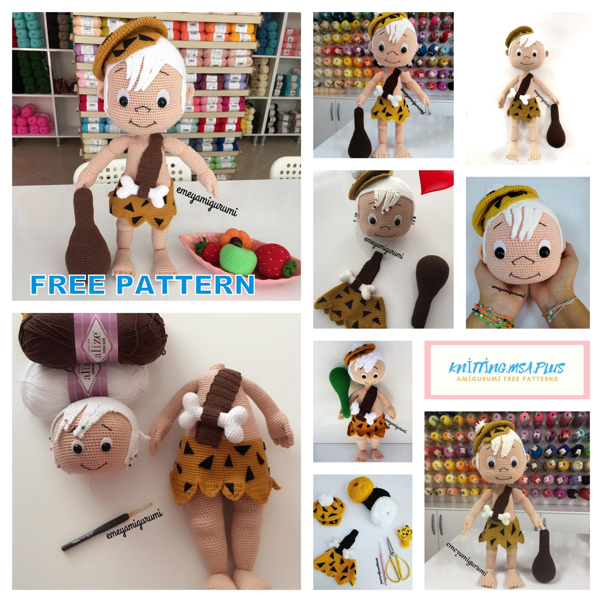 Amigurumi Bambam Free Crochet Pattern