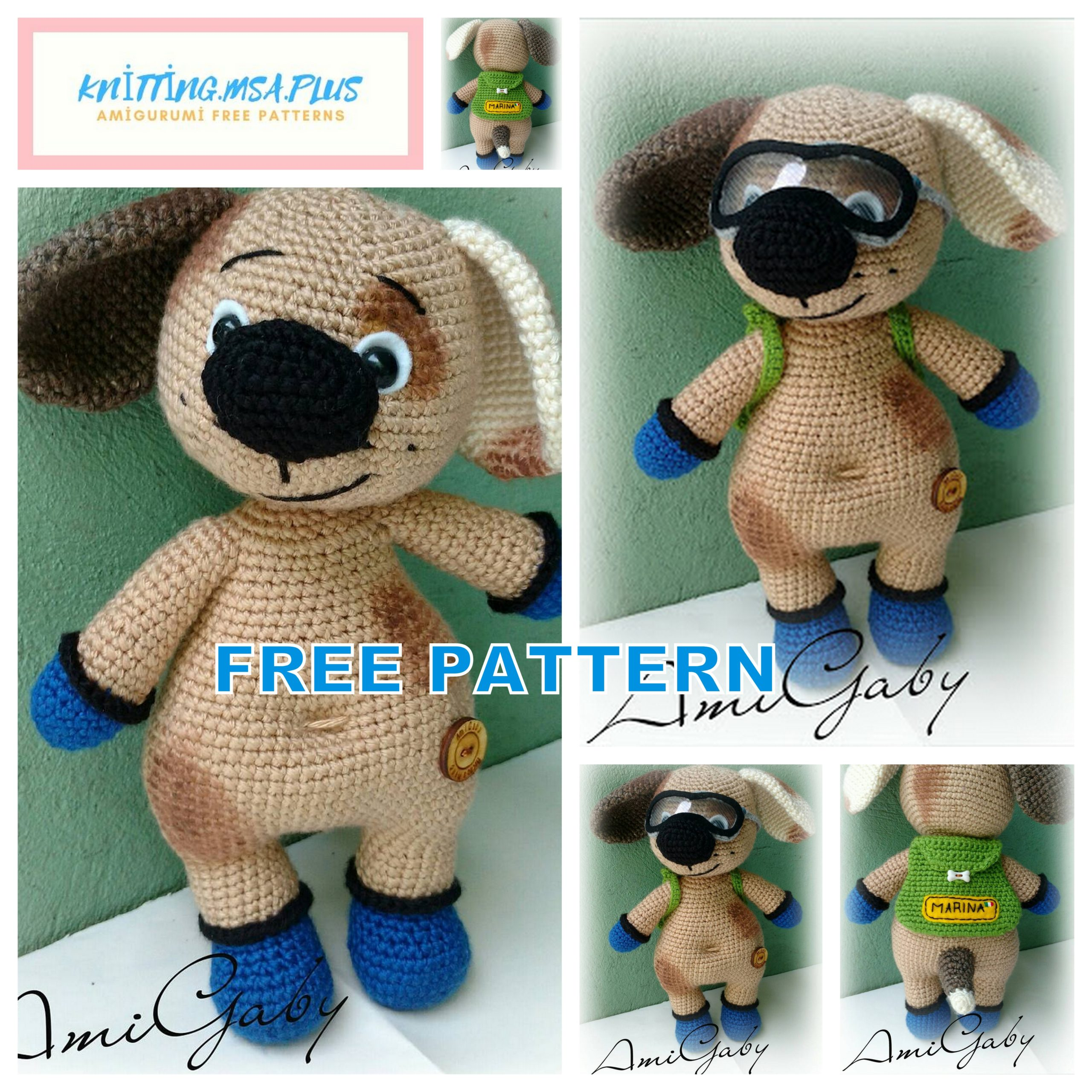 Amigurumi Dirty Dog Free Pattern