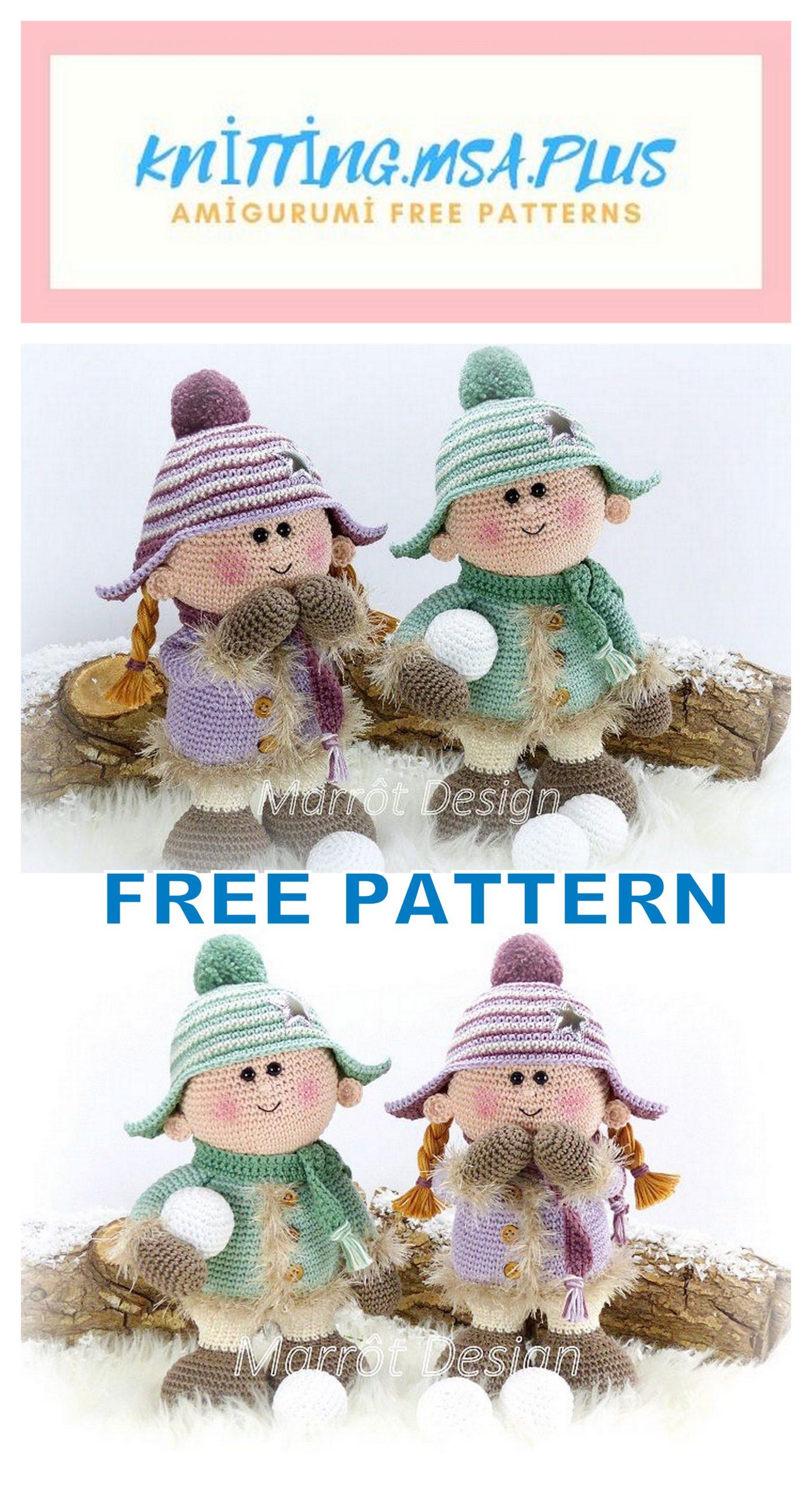 Amigurumi Chubby Dolls Free Crochet Pattern