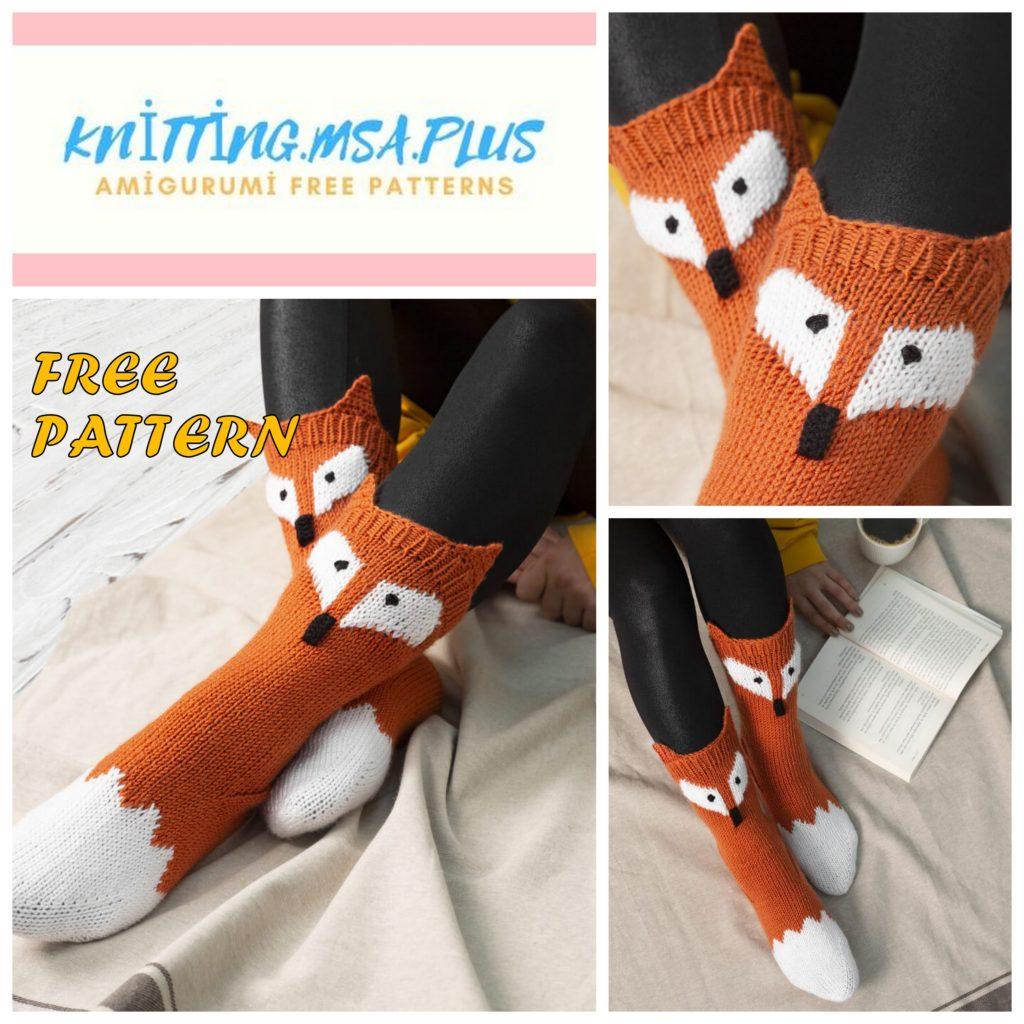 Fox Socks Pattern Free Knitting Tutorial