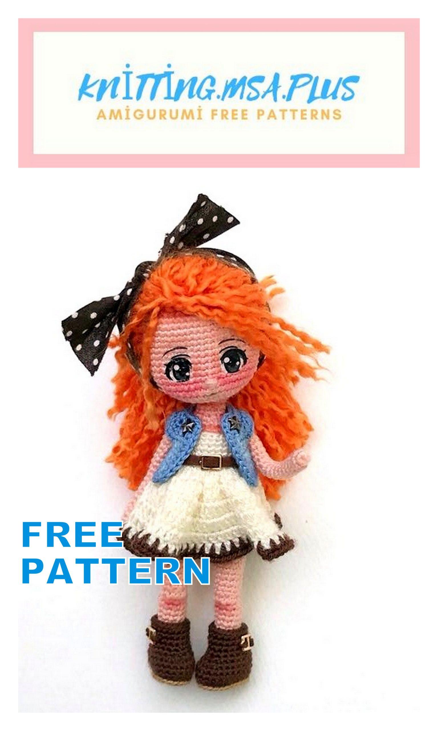 Amigurumi Doll Elena Free Crochet Pattern