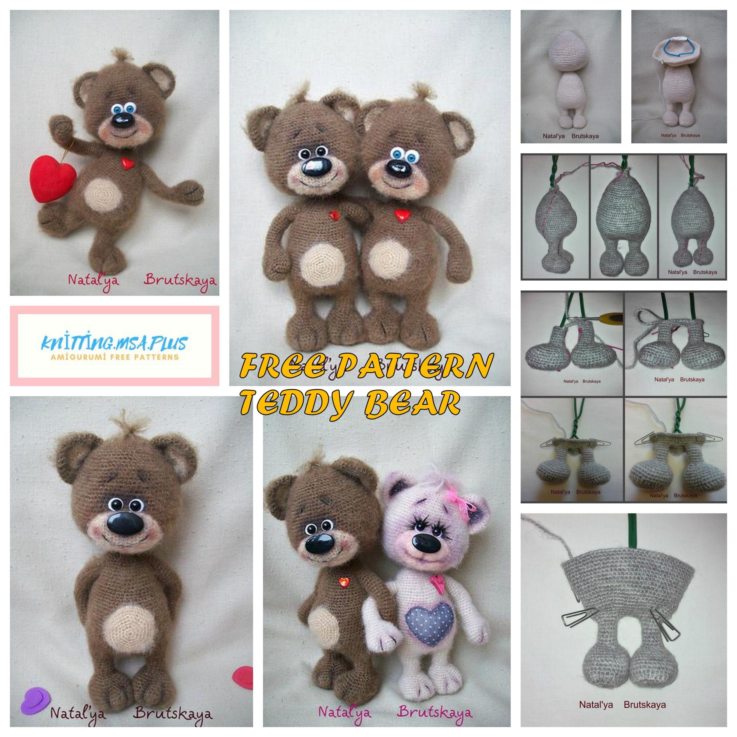 20+ Free Crochet Teddy Bear Patterns ⋆ Crochet Kingdom | 2560x2560