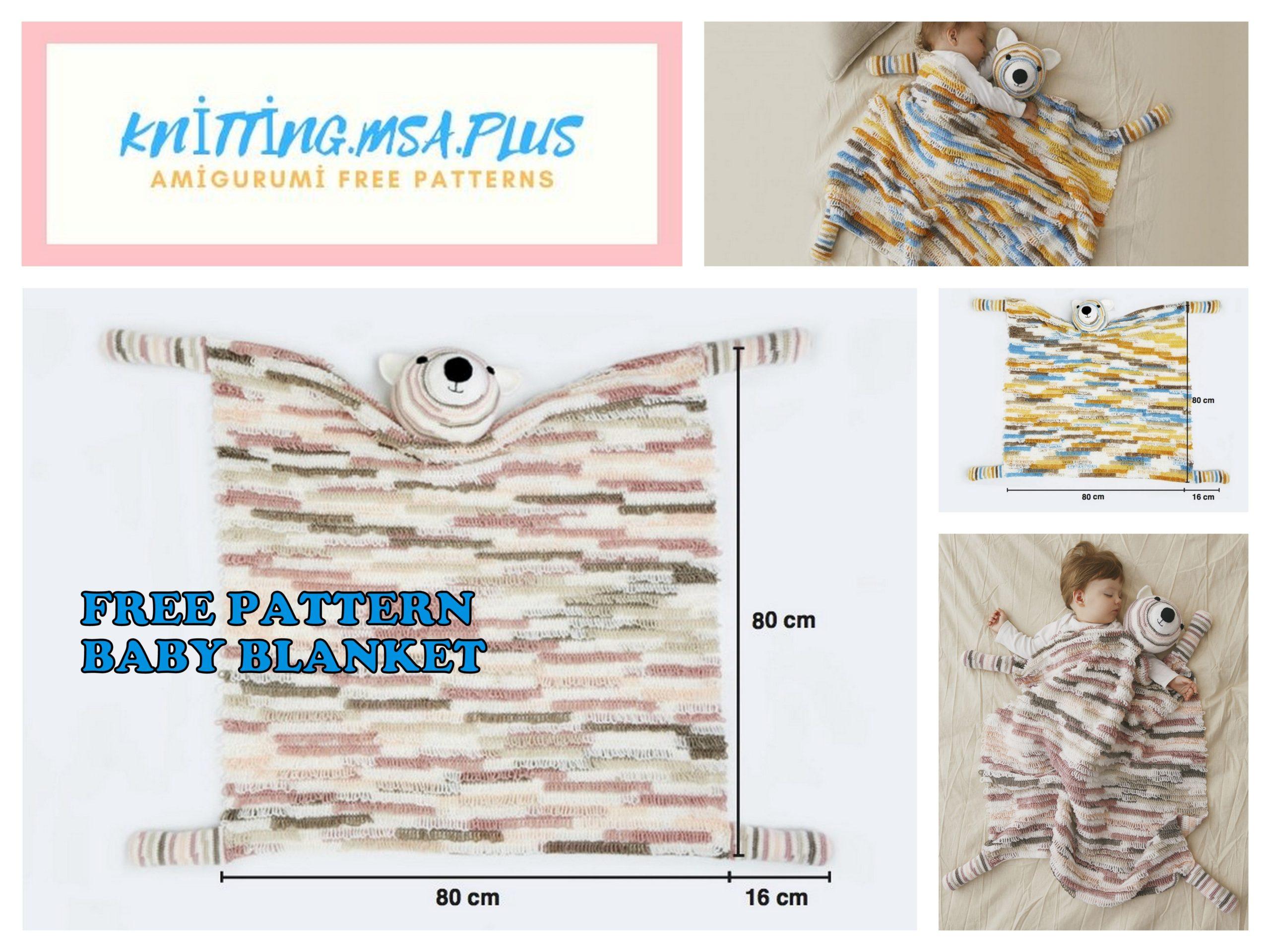Amigurumi Teddy Bear Baby Blanket Free Crochet Pattern