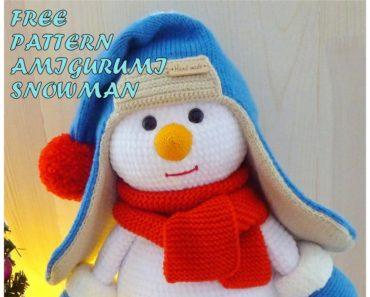 Olaf the snowman crochet pattern | Amiguroom Toys | 297x370
