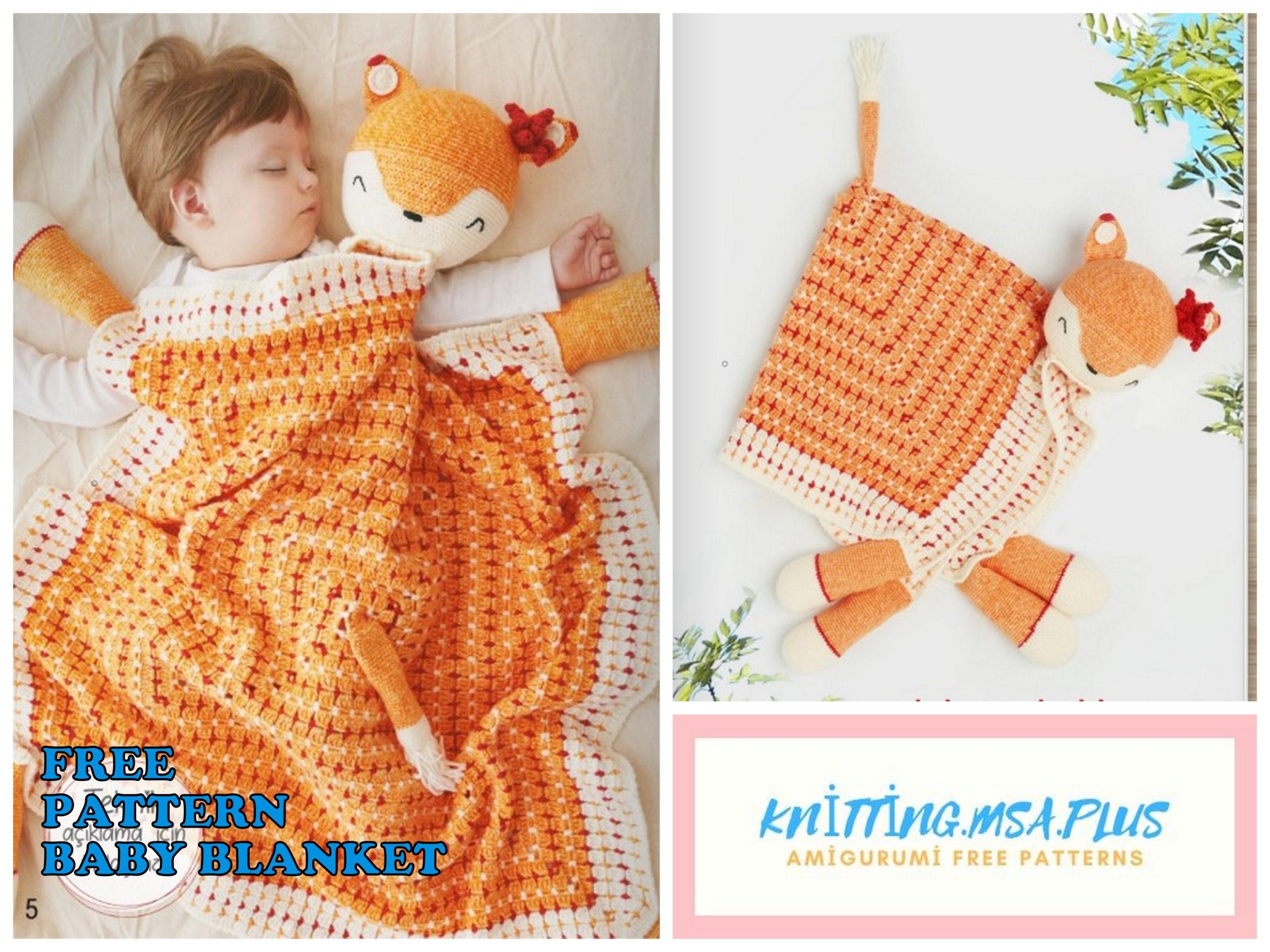 Amigurumi Fox Baby Blanket Free Crochet Pattern