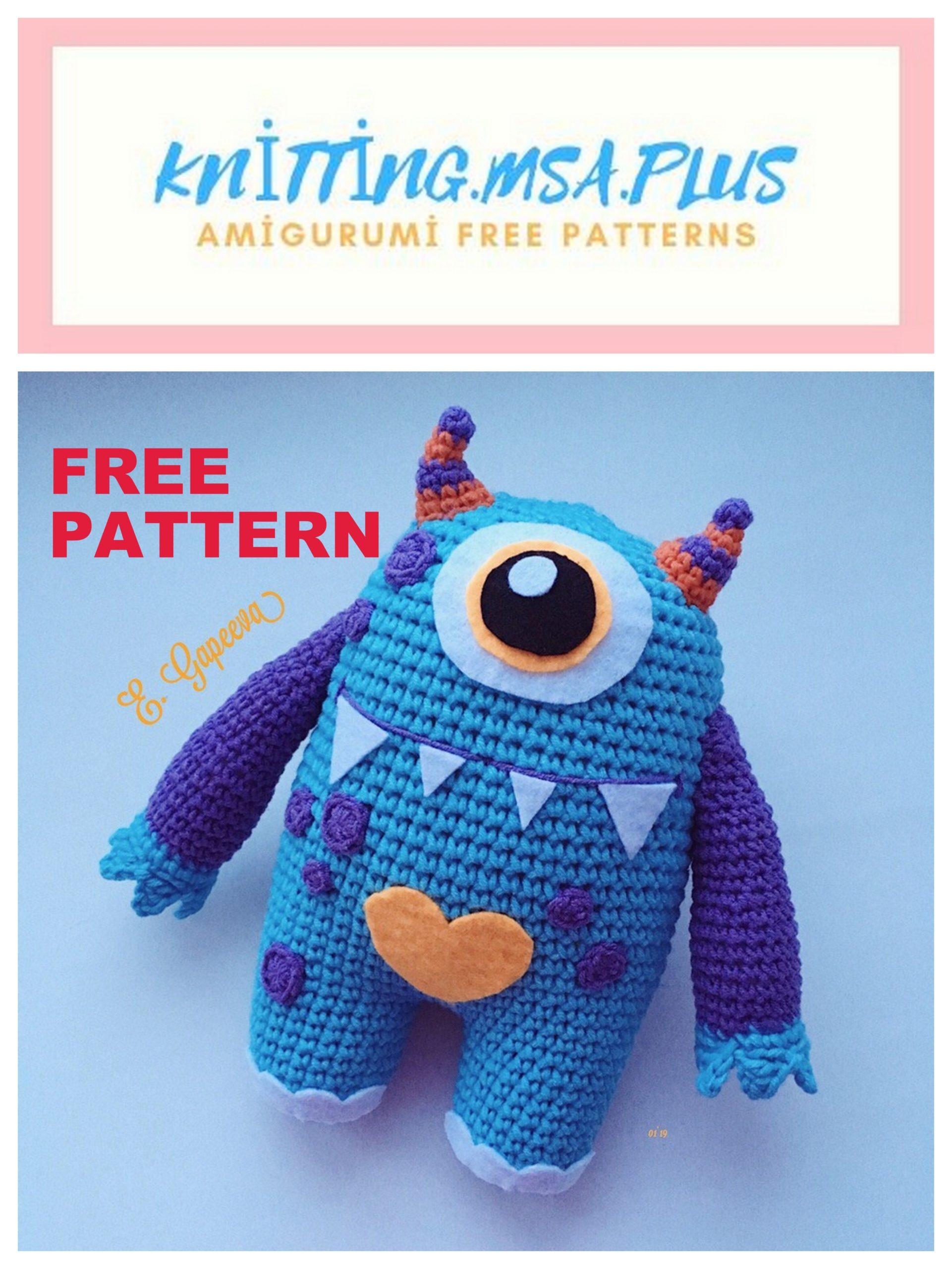 Free Crochet Pattern for Melvin the Monster ⋆ Crochet Kingdom | 2560x1921