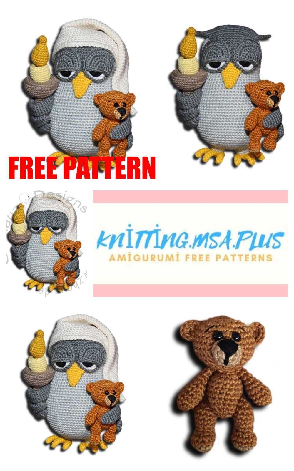 More Than 30 Crochet Owl Patterns All Free and Amazing | 1600x1000