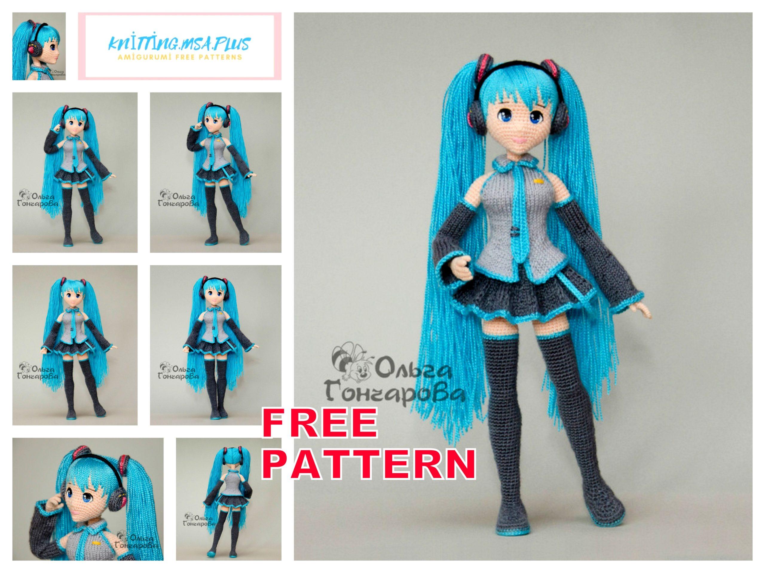 Amigurumi Doll Miku Hatsune Free Crochet Pattern