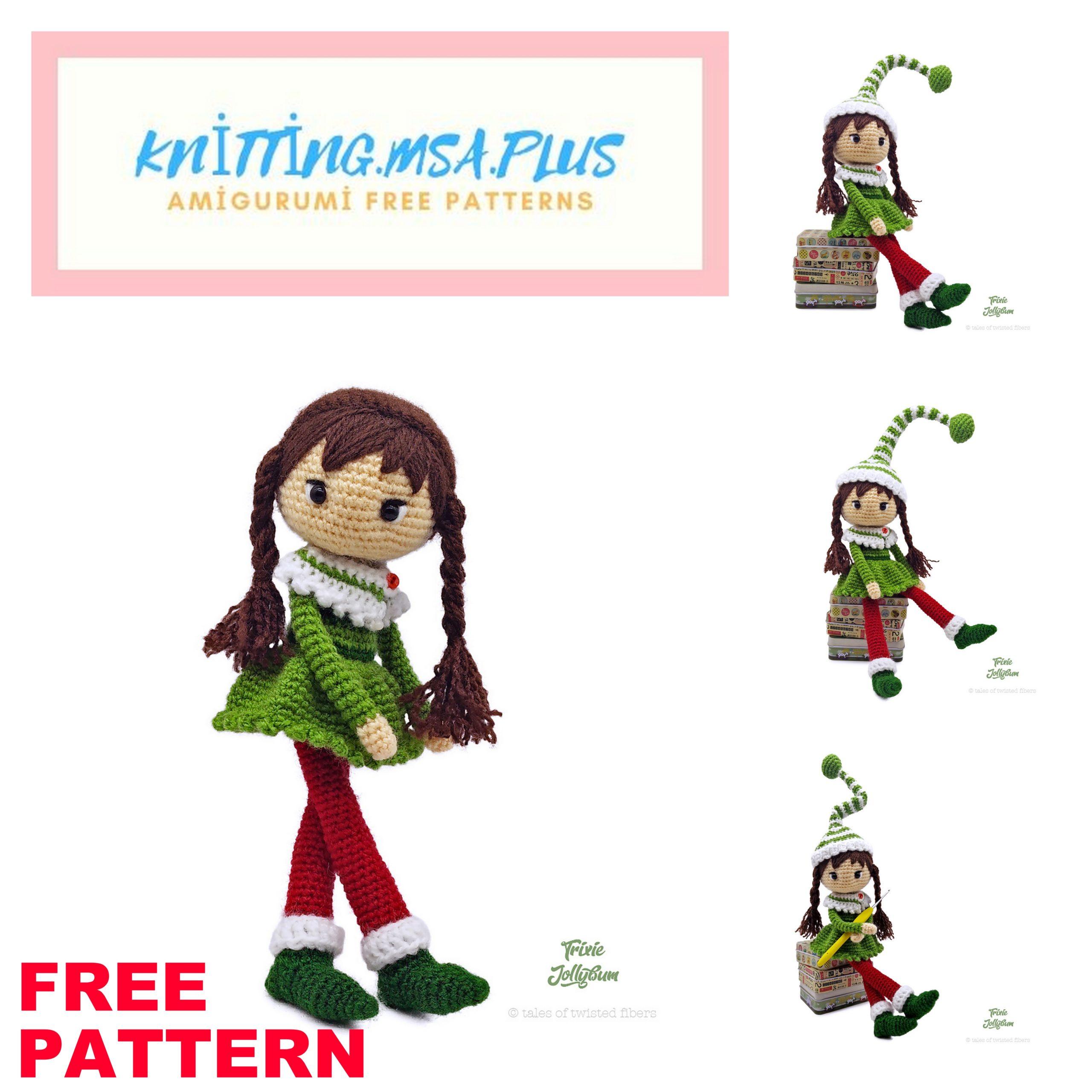 Amigurumi Trixie Doll Free Crochet Pattern