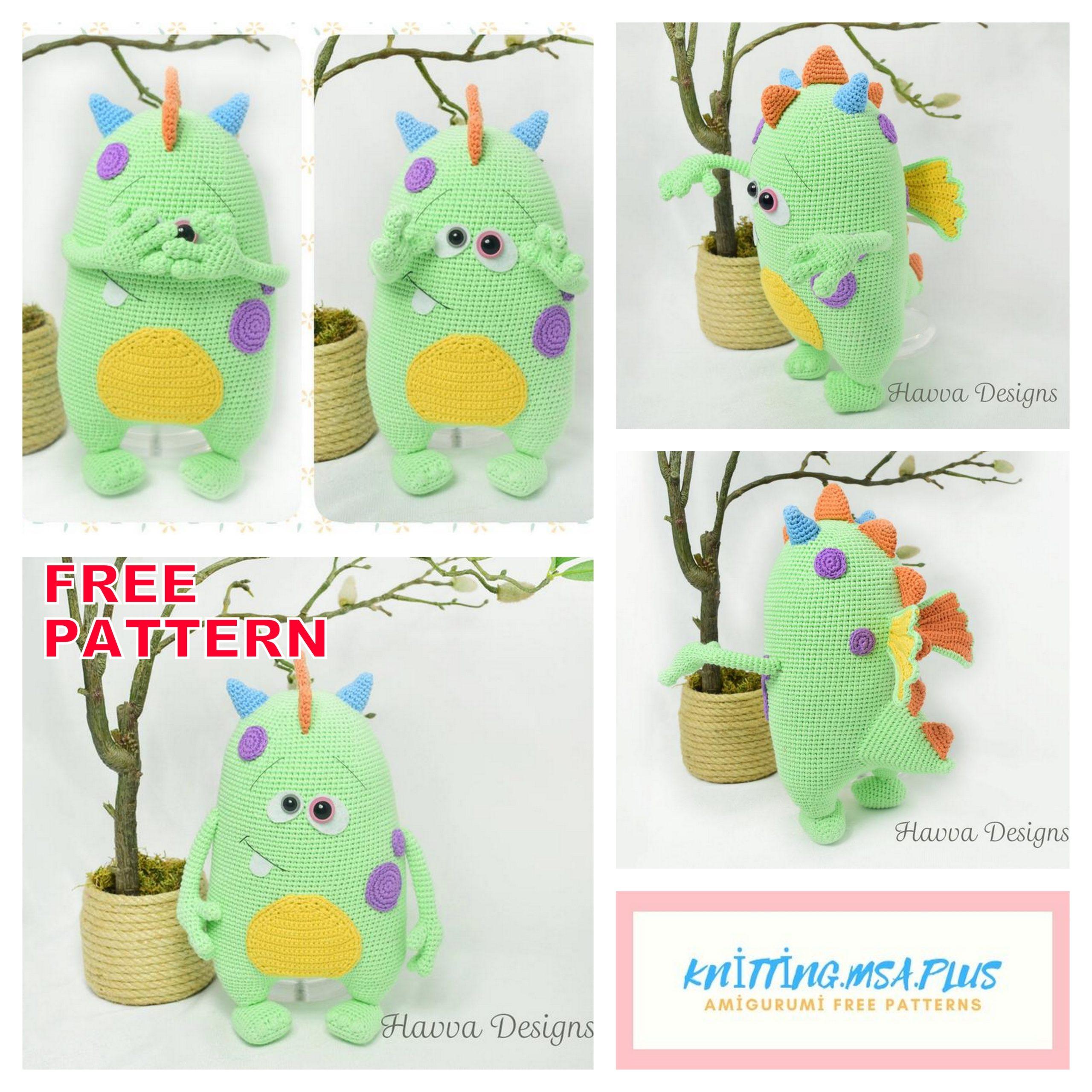 Amigurumi Cute Monster Kuboo Free Crochet Pattern