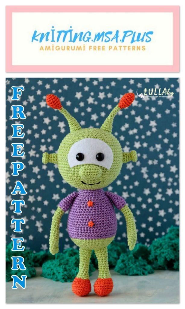 Amigurumi Alien Free Crochet Pattern