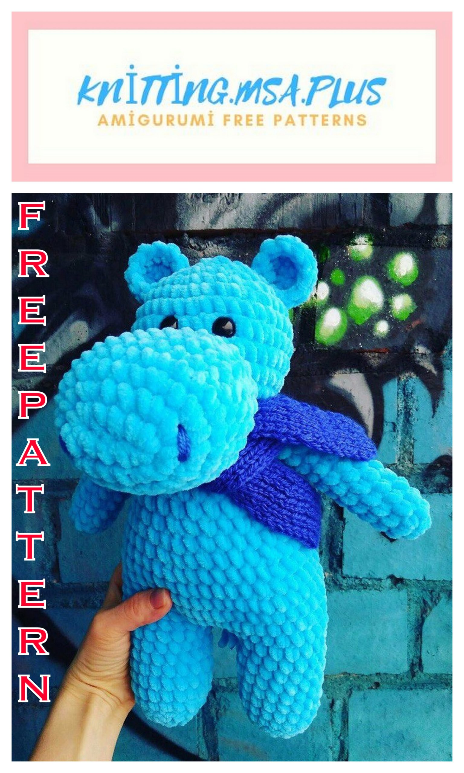 Amigurumi Velvet with Rope Hippo Free Crochet Pattern