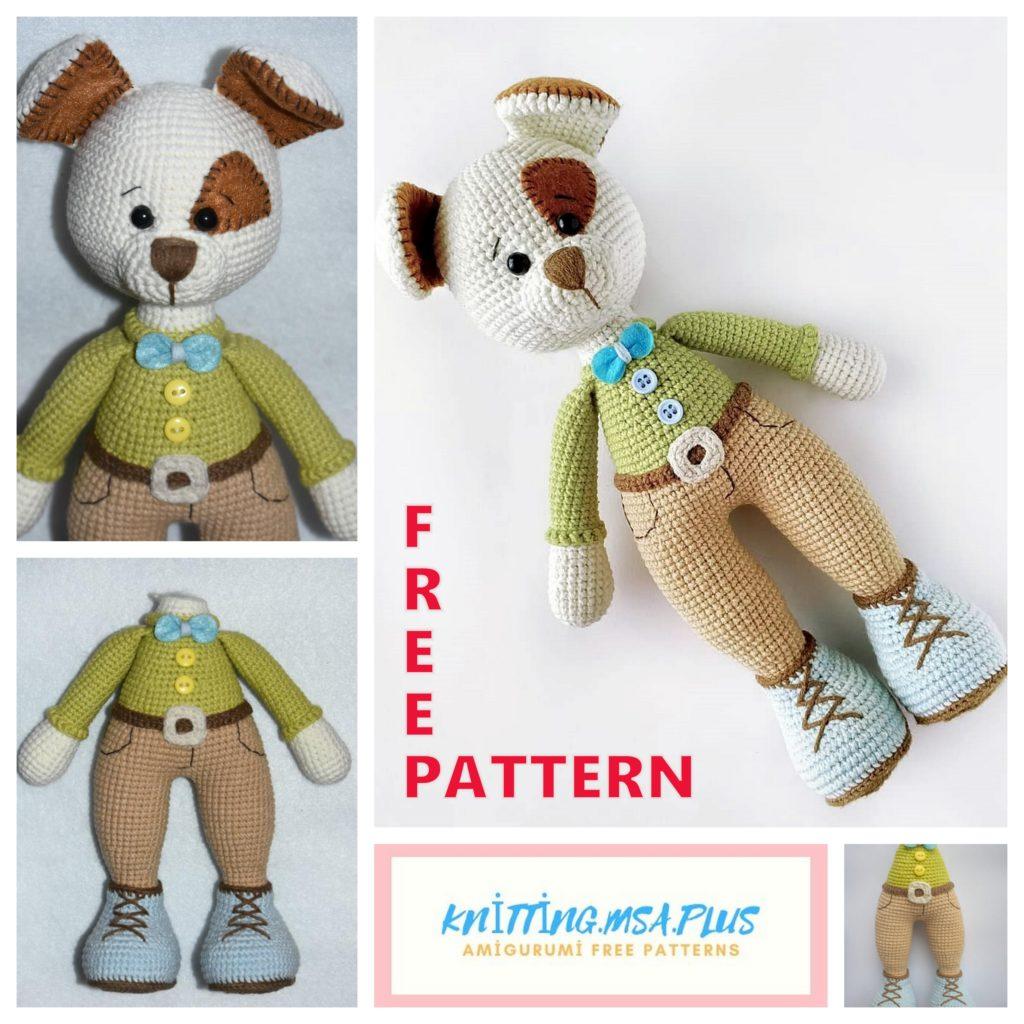 Amigurumi Dog Bruno Free Crochet Pattern