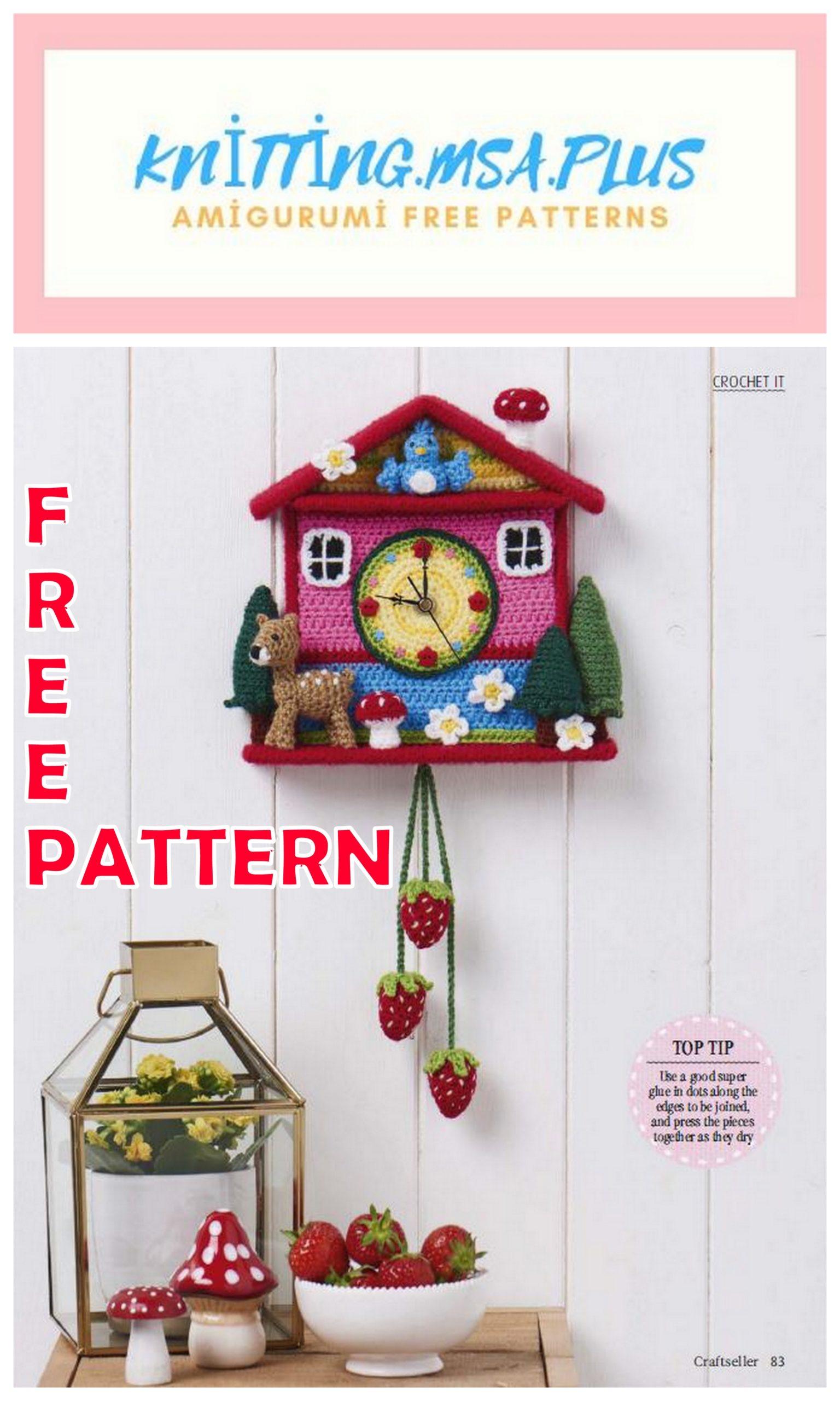 Amigurumi Wall Clock Free Crochet Pattern