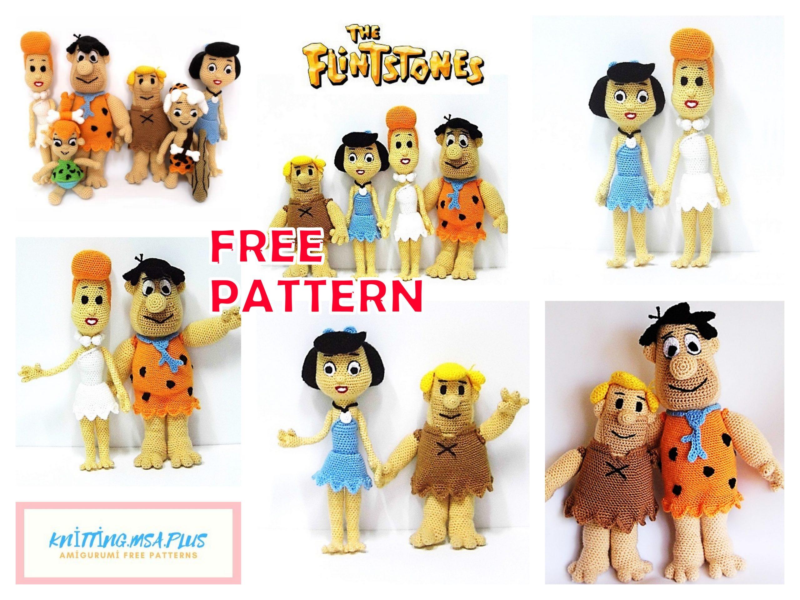 Amigurumi The Flinstones Free Crochet Patterns
