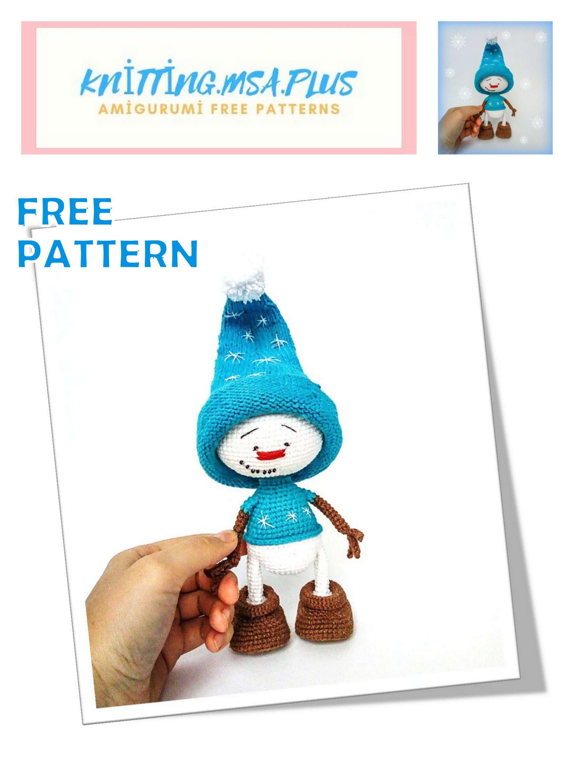 Amigurumi Cute Snowman Free Crochet Pattern