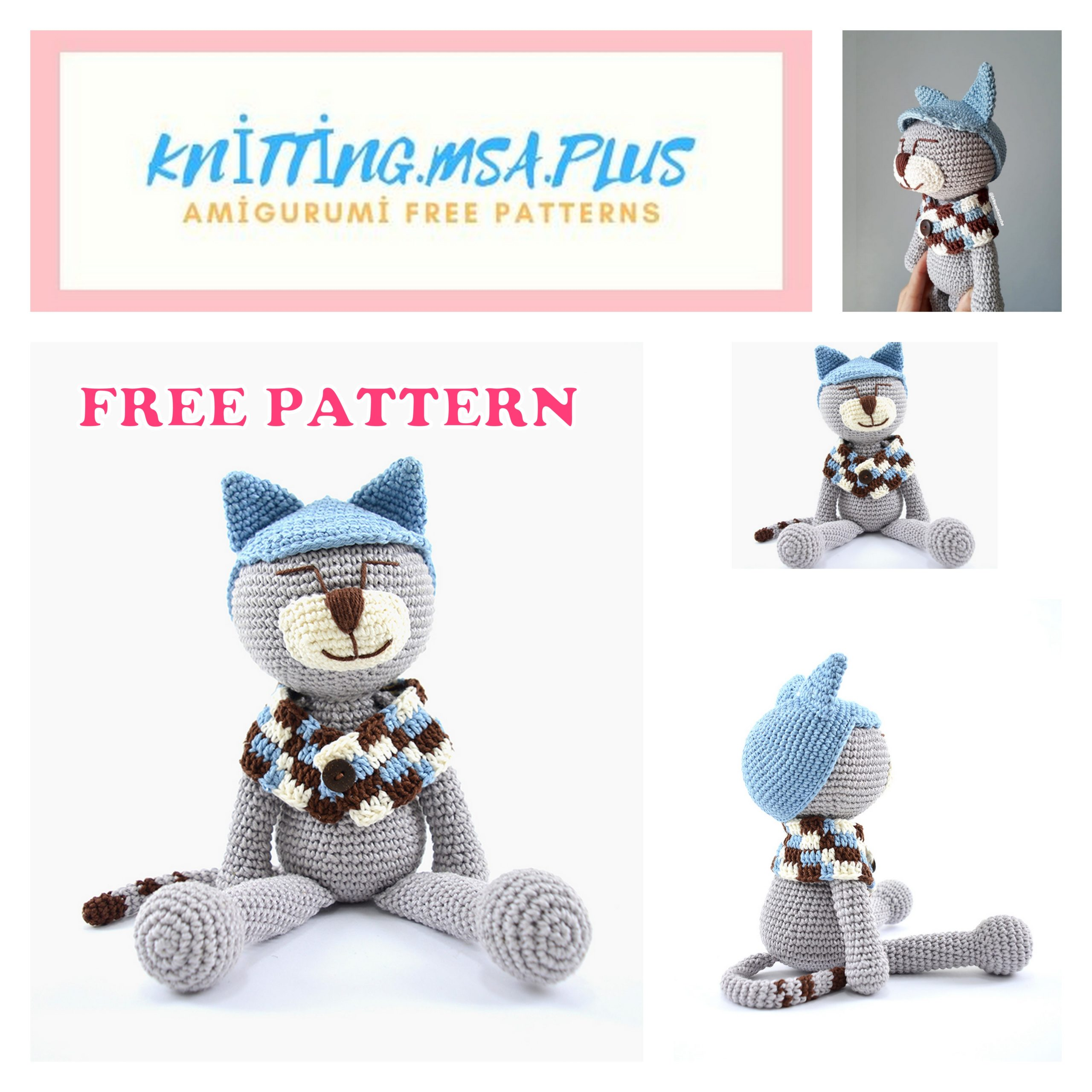 Amigurumi Mr. Cat Free Crochet Pattern