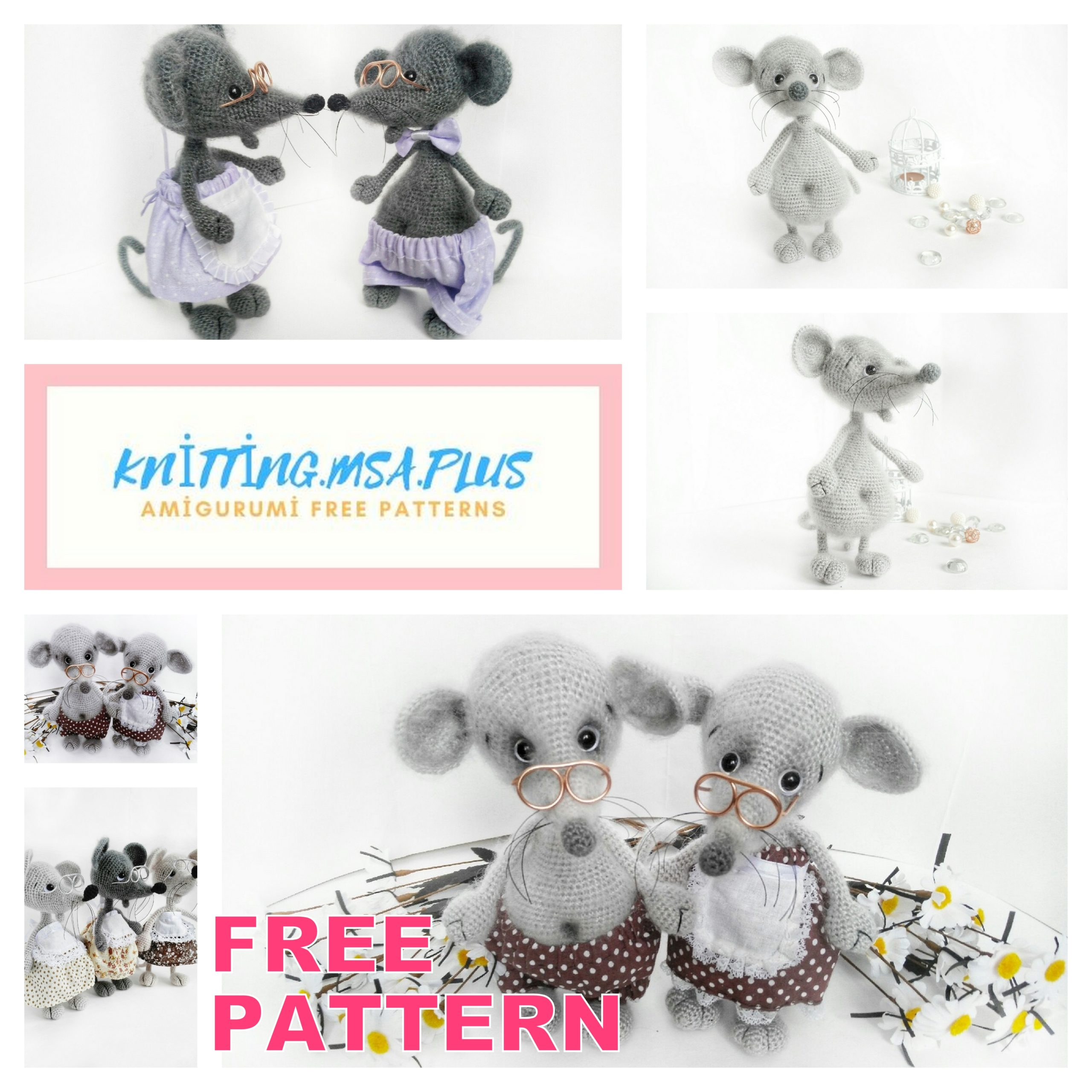 Amigurumi Cute Mouse Free Crochet Pattern