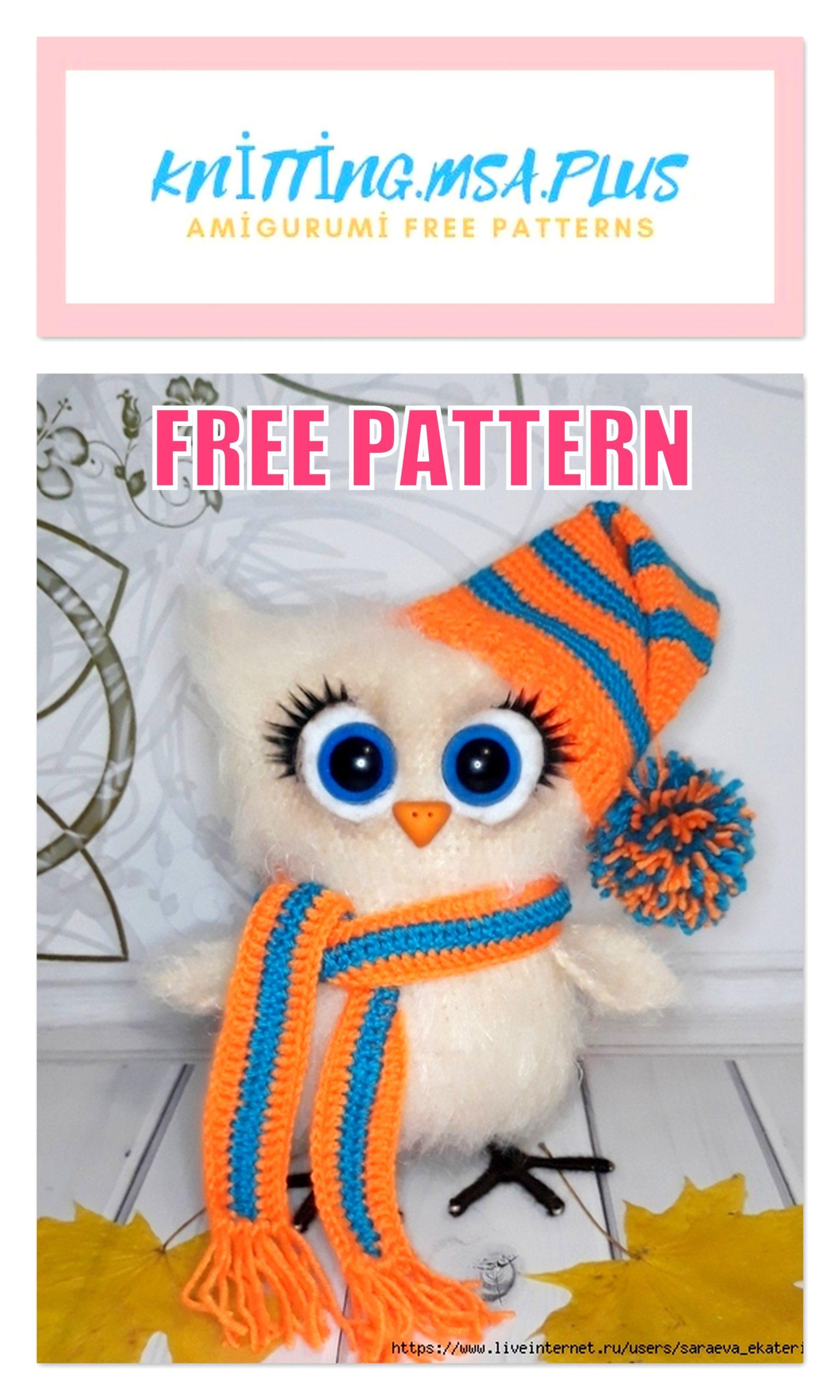 Cute Owl Amigurumi Free Crochet Pattern