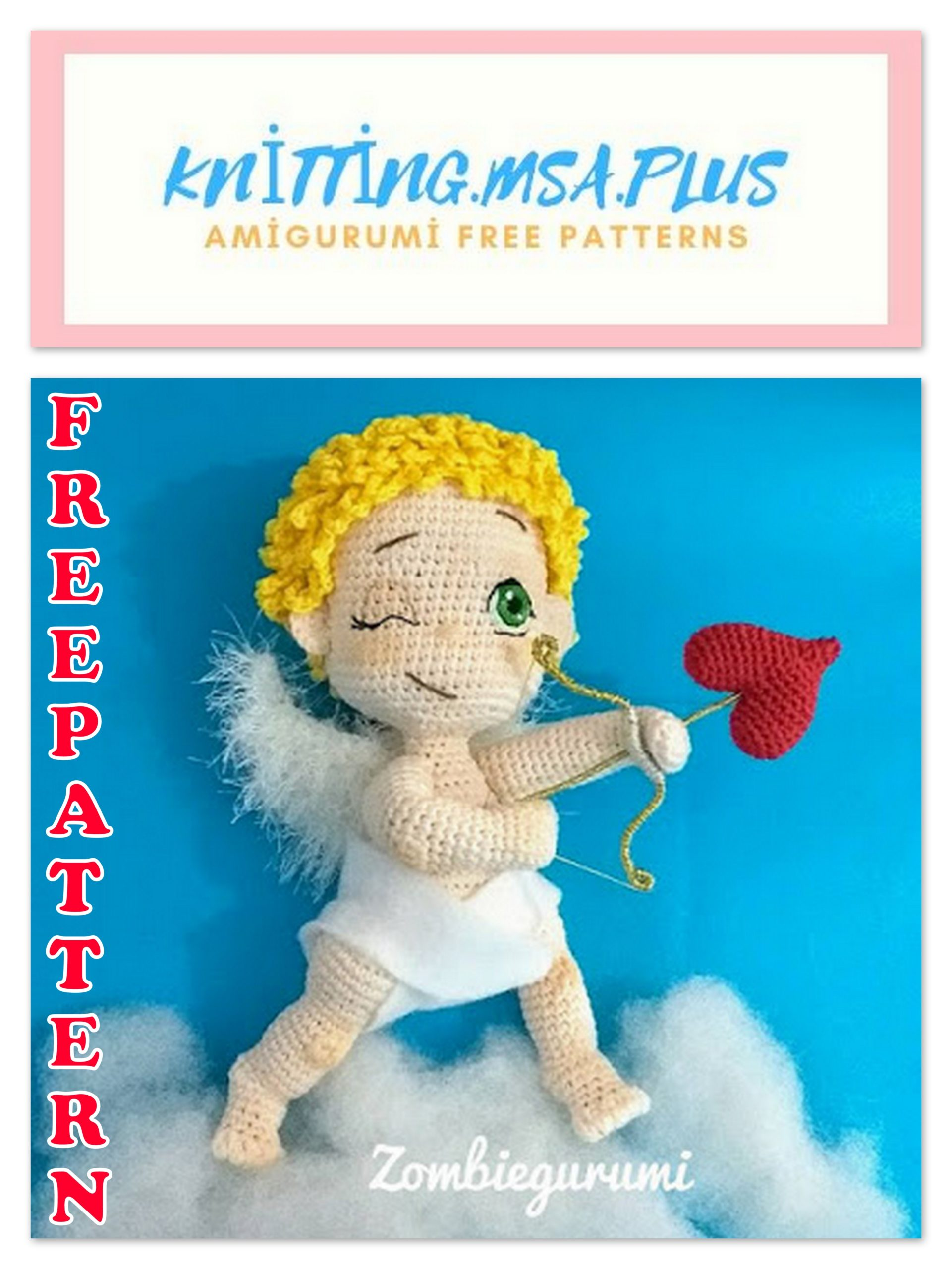 Amigurumi Cupid Free Crochet Pattern
