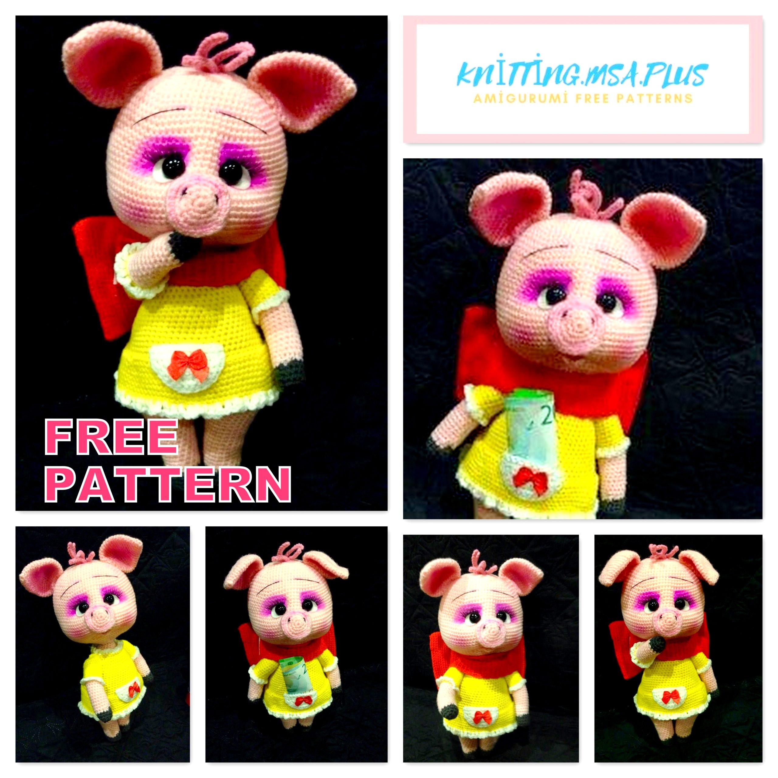 Amigurumi Cute Piggy Free Crochet Pattern