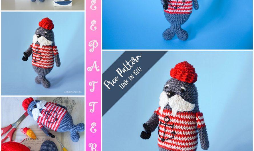 Amigurumi Captain Triky Seal Free Crochet Pattern